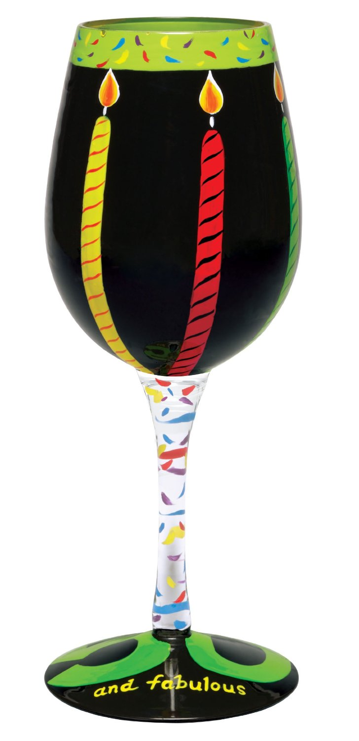50th Birthday Gag Gifts Wine Glasses