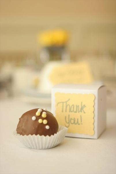 Gourmet Chocolate Wedding Favor Thank You