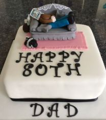 80th Birthday Cake for Dad
