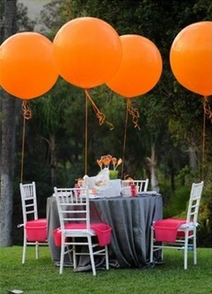 Outdoor 80th Birthday Party Idea