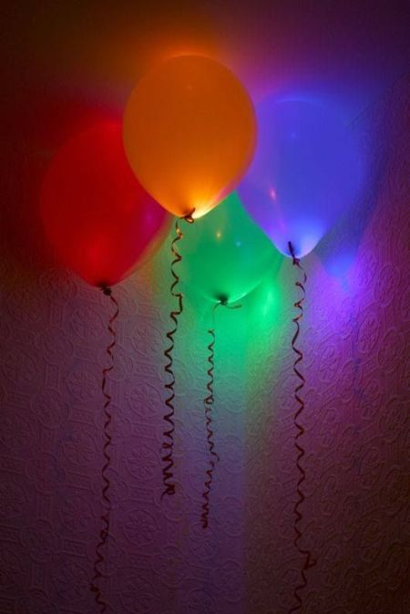 Glowing Balloons for 80th Birthday Decorations