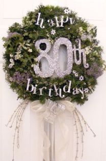 Wreath for 80th Birthday Decorations