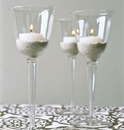 DIY Candle Wedding Favor Stemware