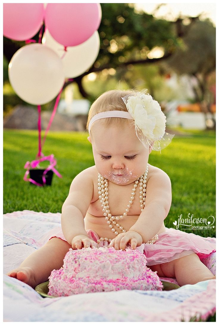 Sweet First Girl Birthday Photograph