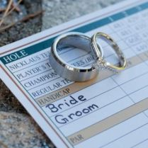 Wedding Rings And Golfing Score Card