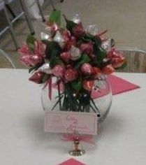 Hershey Kiss Rose Favor Display
