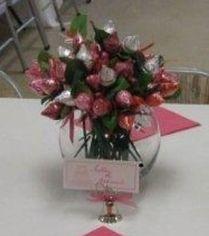 Hershey Kiss Rose Favor Display