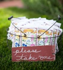 Seed Packet Favor Wire Basket