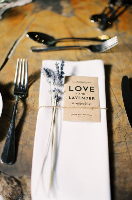 Lavender Seed Packet Wedding Favors