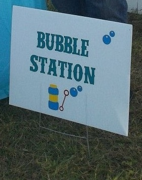 1st Boy Birthday Bubble Station Sign