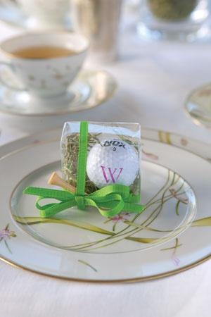 Monogrammed Golf Themed Wedding Favors
