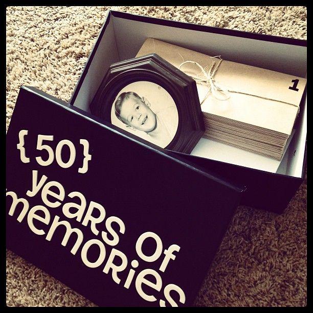 Memorable 50th Birthday Gift Idea
