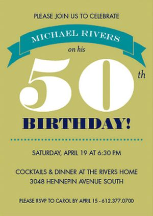 50th Birthday Invites Idea