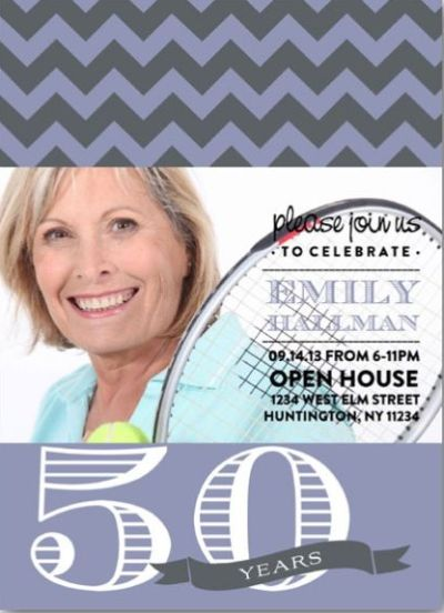 50th Birthday Photo Invites