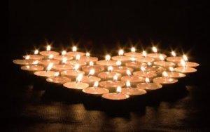 DIY Candle Wedding Favor Heart