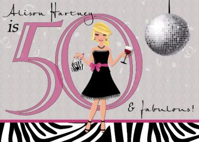 Stylish 50th Birthday Invites