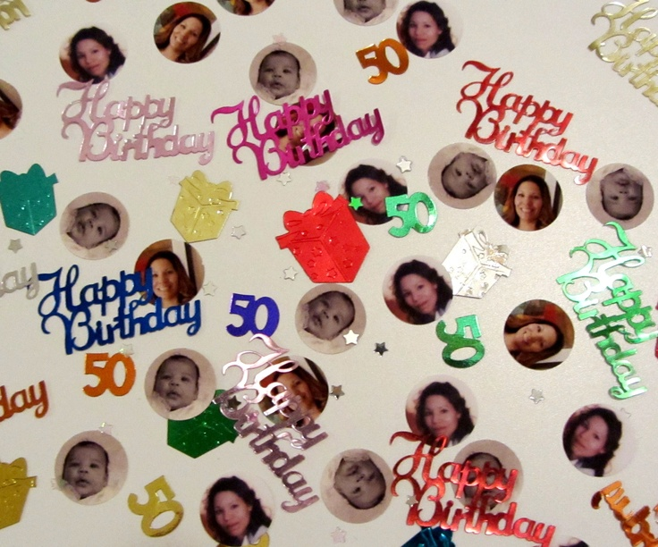 50th Birthday Party Photo Confetti