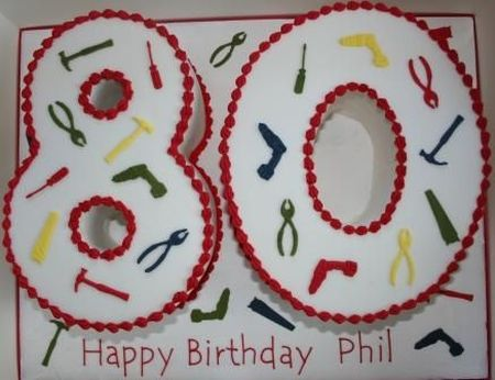 Tools 80th Birthday Cake Idea