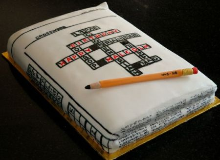 Crossword 80th Birthday Cake Idea.  See more cake and party ideas at one-stop-party-ideas.com