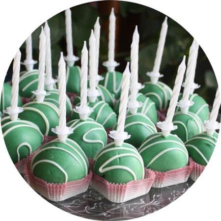 80th Birthday Cupcake Pops