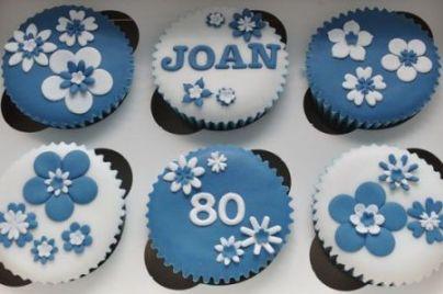 80th Birthday Cupcakes With A Feminine Flair