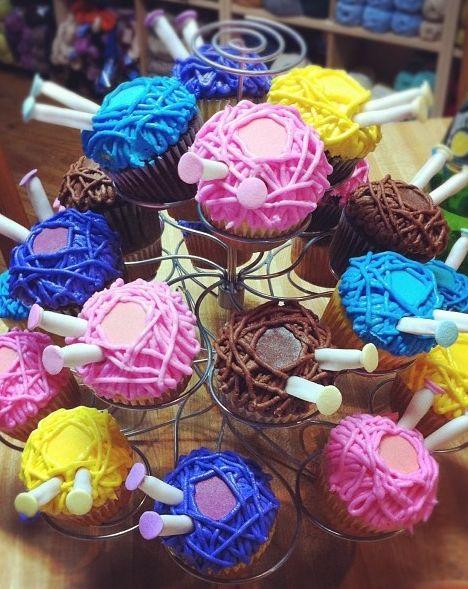 Knitting 80th Birthday Cupcakes