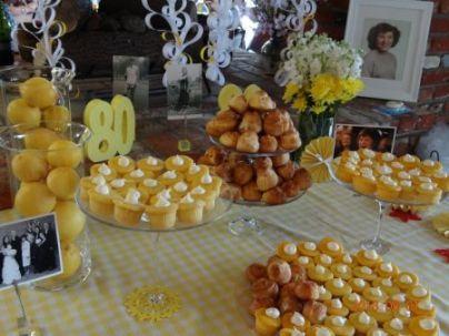80th Birthday Cupcake Tablescape