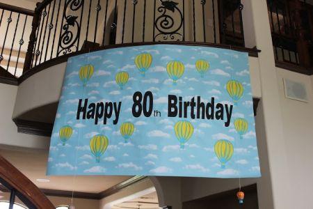 80th Birthday Decorations Banner