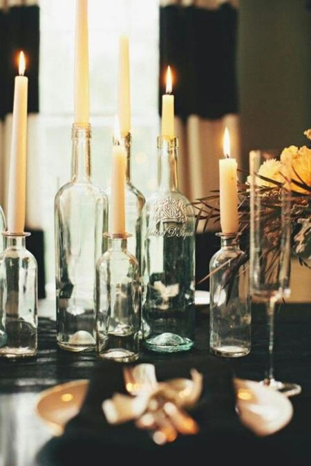 80th Birthday Decorations Bottle Candle Holders