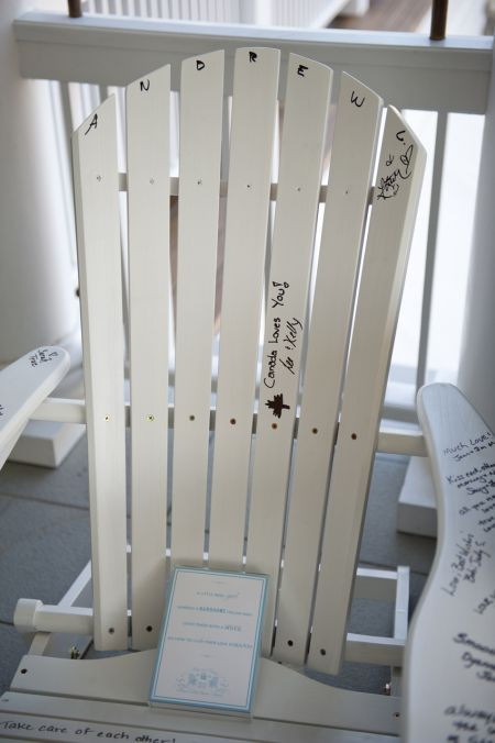 80th Birthday Party Suggestions Autograph Chair