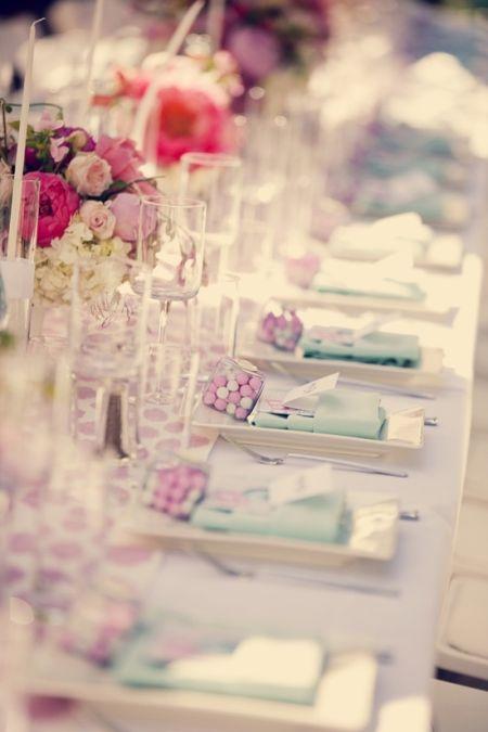 Sophisticated Bubblegum Wedding Favors