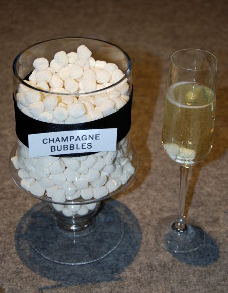 Champagne Bubble Candy & Champagne Flute