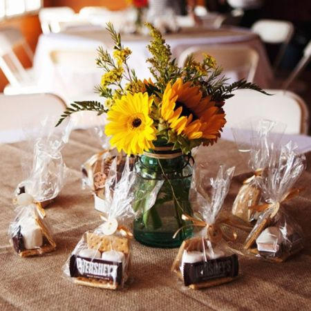 S'more Chocolate Bar Wedding Favors