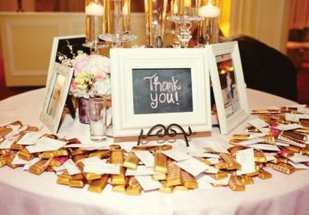 Chocolate Bar Wedding Favor Idea