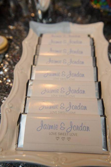 Lovely Chocolate Bar Wedding Favors