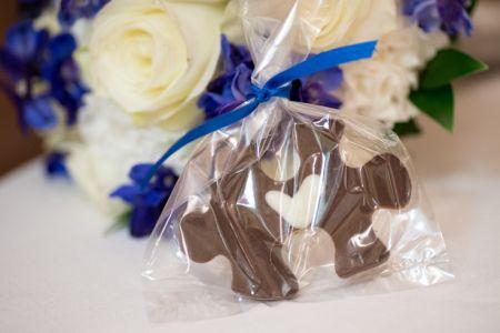 Chocolate Puzzle Piece Wedding Favor