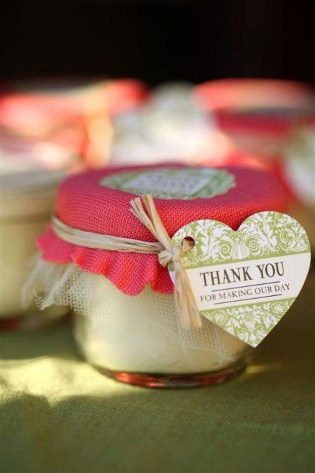DIY Candle Wedding Favor Tag