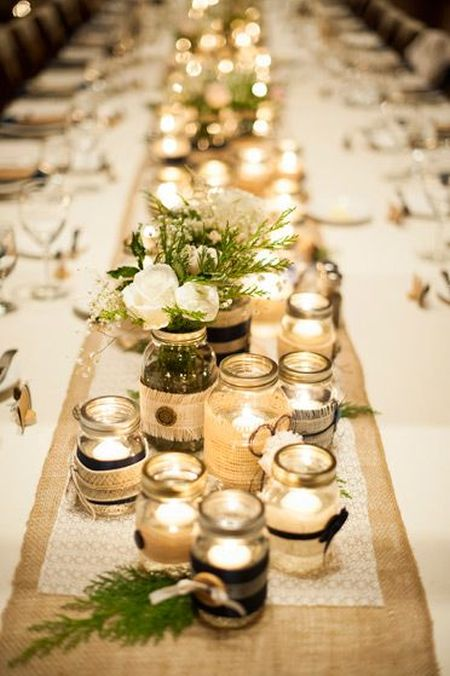 DIY Candle Wedding Favor Jars