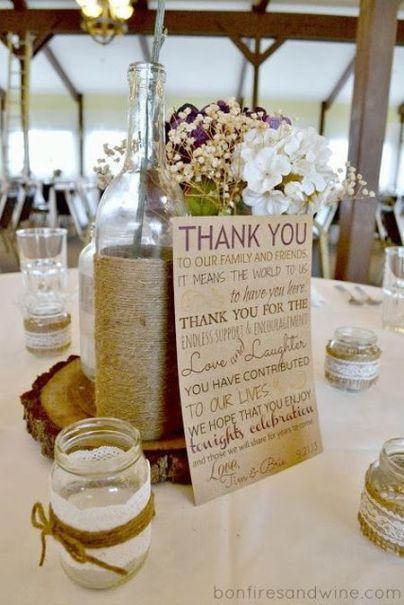 DIY Candle Wedding Favor Thank You