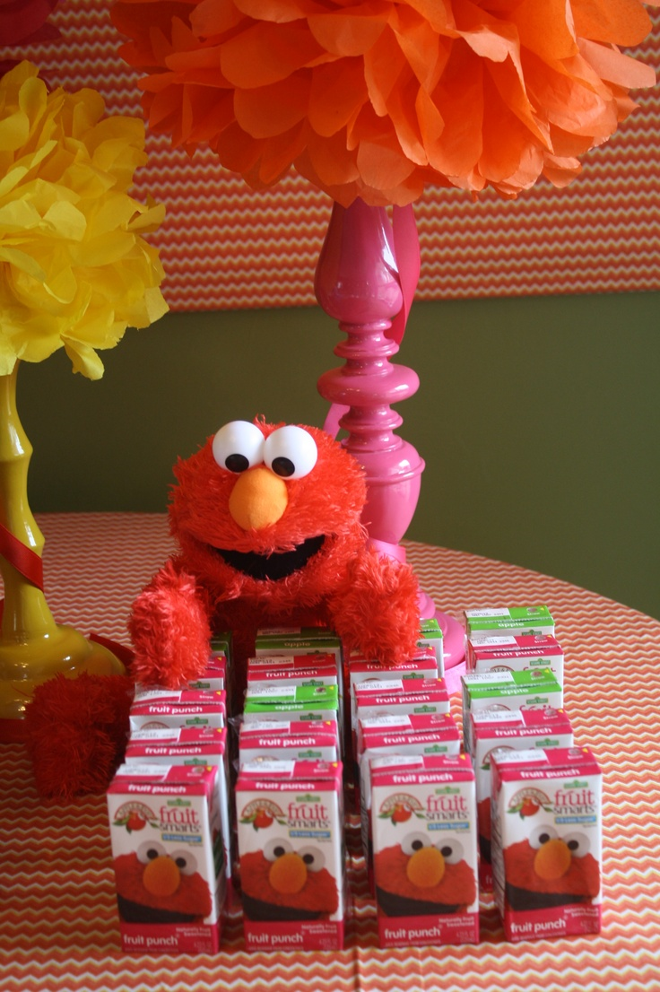 Elmo Juice Boxes For Birthday Party