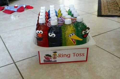 Elmo Birthday Party Ring Toss Game