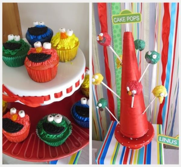 Elmo birthday party ideas easy elmo cupcake cake pop ideas elmo birthday party refreshments solutioingenieria Image collections