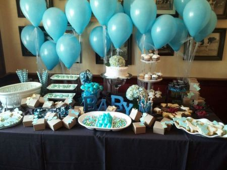 First Boy Birthday Tablescape