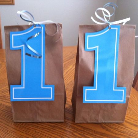 First Boy Birthday Treat Bags