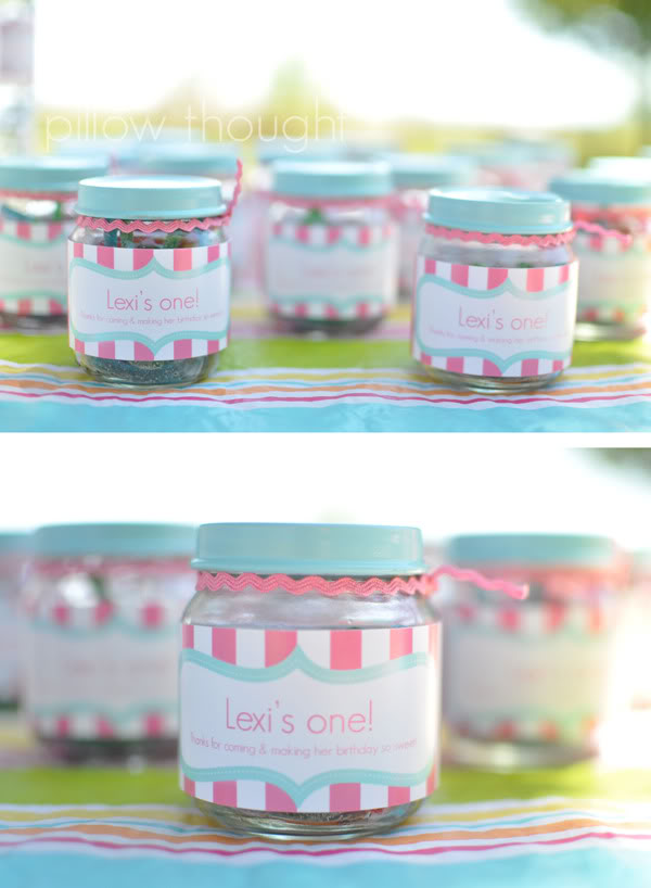 Creative First Girl Birthday Party Favors