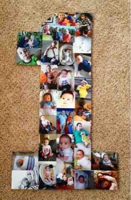First Girl Birthday Picture Collage