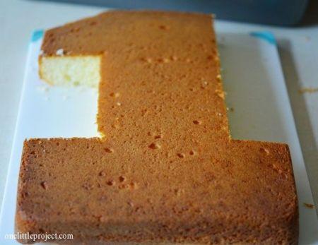 DIY First Girl Birthday Cake Idea