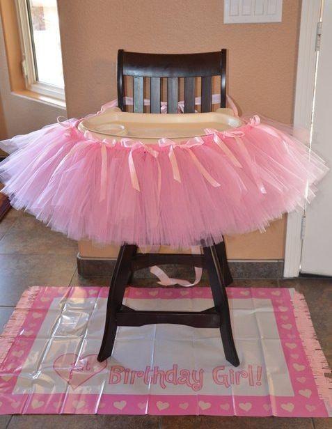 First Girl Birthday Highchair