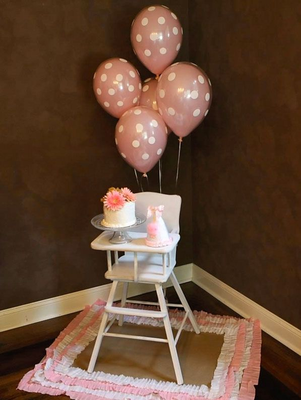 First Girl Birthday Highchair Idea