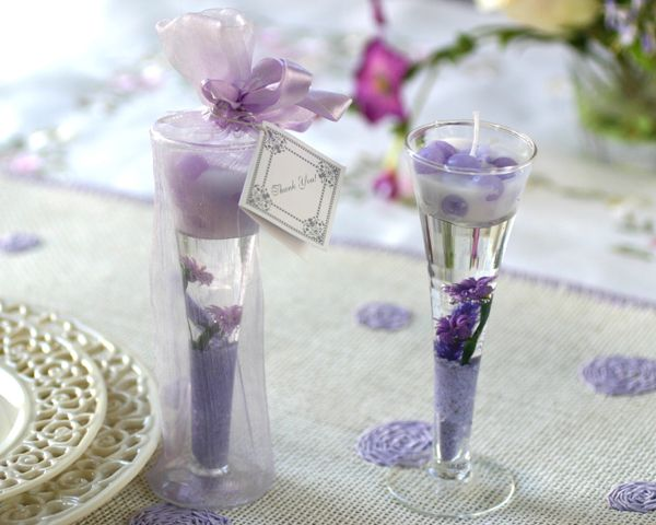 Lavender Gel Candle Wedding Favors